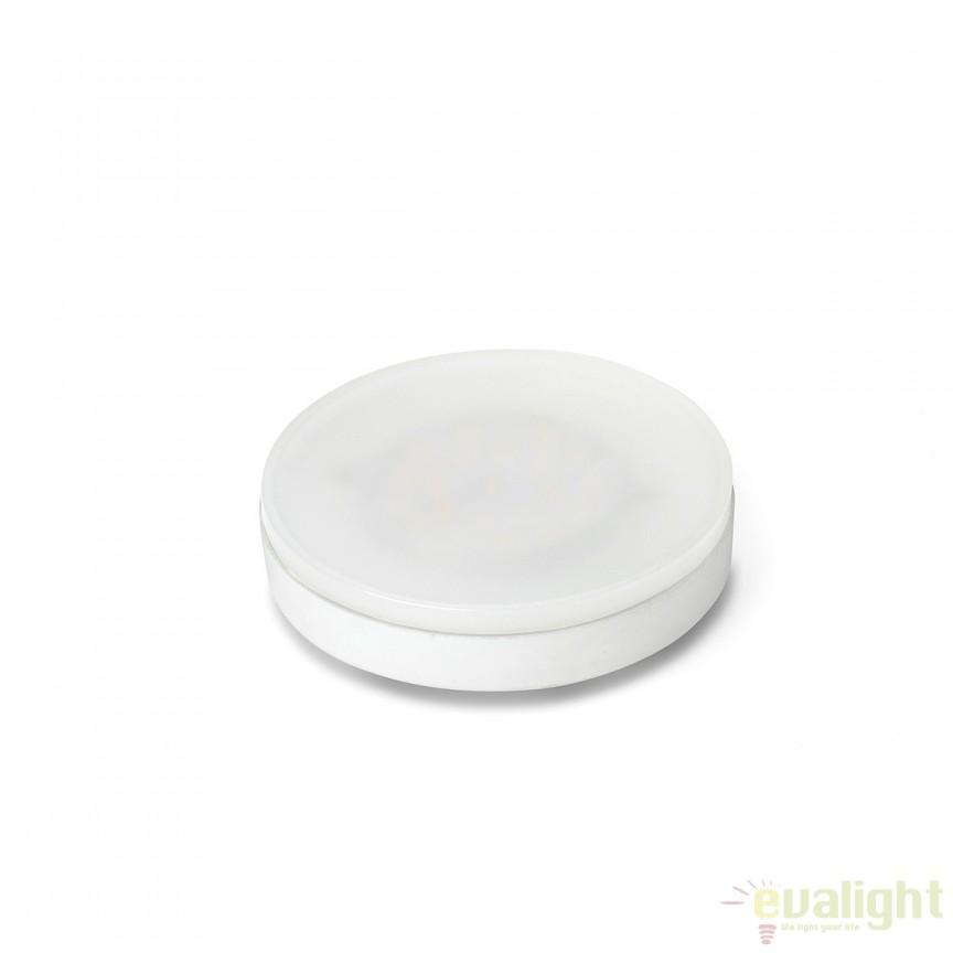 Bec LED GX53 6W 2700K 17340 , Becuri MR16 / AR111-GX53-GU5.3-GU4 LED pentru iluminat interior si exterior.⭐Cumpara online si ai livrare Acasa.✅Modele de becuri puternice cu halogen si economice cu LED.❤️Promotii la becuri cu soclu de tip MR16 / AR111 / GX53 / GU5.3 / GU4❗ Alege oferte speciale la becuri cu dulie potrivite la corpurile de iluminat pentru casa, baie, birou, restaurant, spatii comerciale❗ Cele mai bune becuri si surse de iluminat cu consum redus de energie, (ceramica, sticla, plastic, aluminiu), cu LED dimabile cu lumina calda (3000K), lumina rece alba (6500K) si lumina neutra (4000K), lumina naturala, proiectoare si reflectoare cu spot-uri reglabile cu flux luminos directionabil, cu format GU5.3, cu lumeni multi, bec LED echivalent 35W / 50W / 100W / 120W / 150 (Watt) tensinea curentului electric este de 12V fata de 220V (Volti), durata mare de viata, becuri cu lumina puternica (luminozitate mare) ce consumă mai putina energie electrica, rezistente la caldura si la apa, ieftine si de lux, cu garantie si de calitate deosebita la cel mai bun pret❗ a