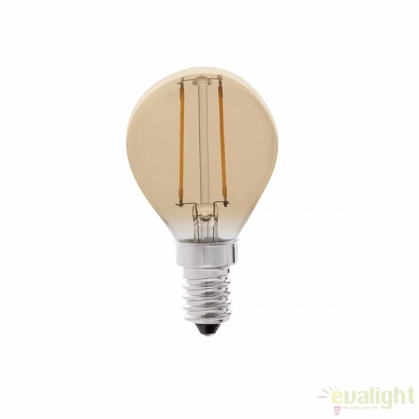 Bec LED decorativ FILAMENT AMBER LED E14 2W 2200K 17413 , Becuri E14, Corpuri de iluminat, lustre, aplice, veioze, lampadare, plafoniere. Mobilier si decoratiuni, oglinzi, scaune, fotolii. Oferte speciale iluminat interior si exterior. Livram in toata tara.  a