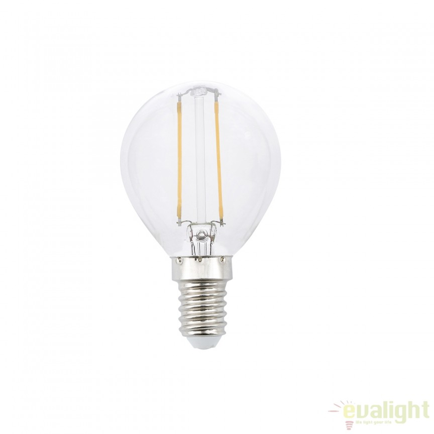 Bec LED decorativ FILAMENT G45 E14 LED 2W 2700K 17416 Faro Barcelona, Becuri E14, Corpuri de iluminat, lustre, aplice, veioze, lampadare, plafoniere. Mobilier si decoratiuni, oglinzi, scaune, fotolii. Oferte speciale iluminat interior si exterior. Livram in toata tara.  a