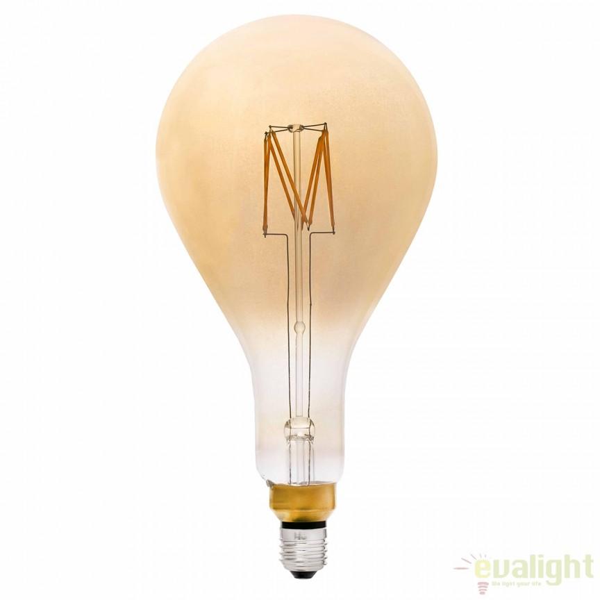 Bec LED E27 decorativ XXL A165 FILAMENT AMBER 3W 2200K 17436 , Becuri E27, Corpuri de iluminat, lustre, aplice, veioze, lampadare, plafoniere. Mobilier si decoratiuni, oglinzi, scaune, fotolii. Oferte speciale iluminat interior si exterior. Livram in toata tara.  a