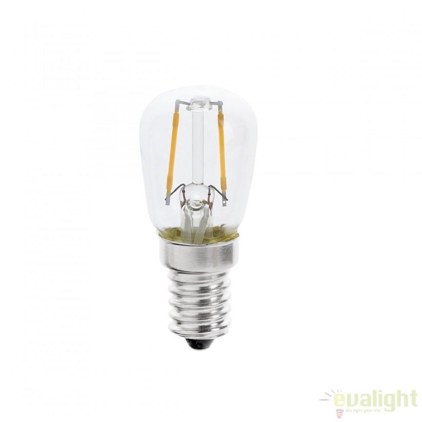 Bec E14 LED decorativ T26 FILAMENT 1W 2700K 17446 , Becuri E14, Corpuri de iluminat, lustre, aplice, veioze, lampadare, plafoniere. Mobilier si decoratiuni, oglinzi, scaune, fotolii. Oferte speciale iluminat interior si exterior. Livram in toata tara.  a