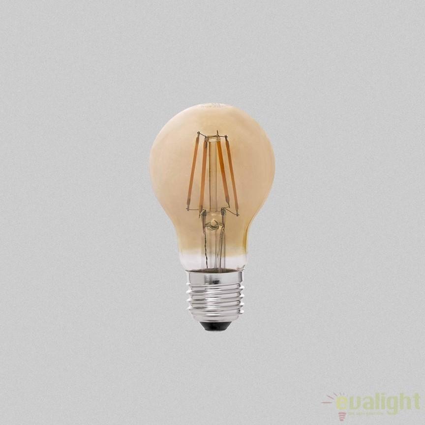 Bec LED E27 DIMABIL A60 FILAMENT 6W 2200K 17514 , BECURI ILUMINAT, Corpuri de iluminat, lustre, aplice, veioze, lampadare, plafoniere. Mobilier si decoratiuni, oglinzi, scaune, fotolii. Oferte speciale iluminat interior si exterior. Livram in toata tara.  a