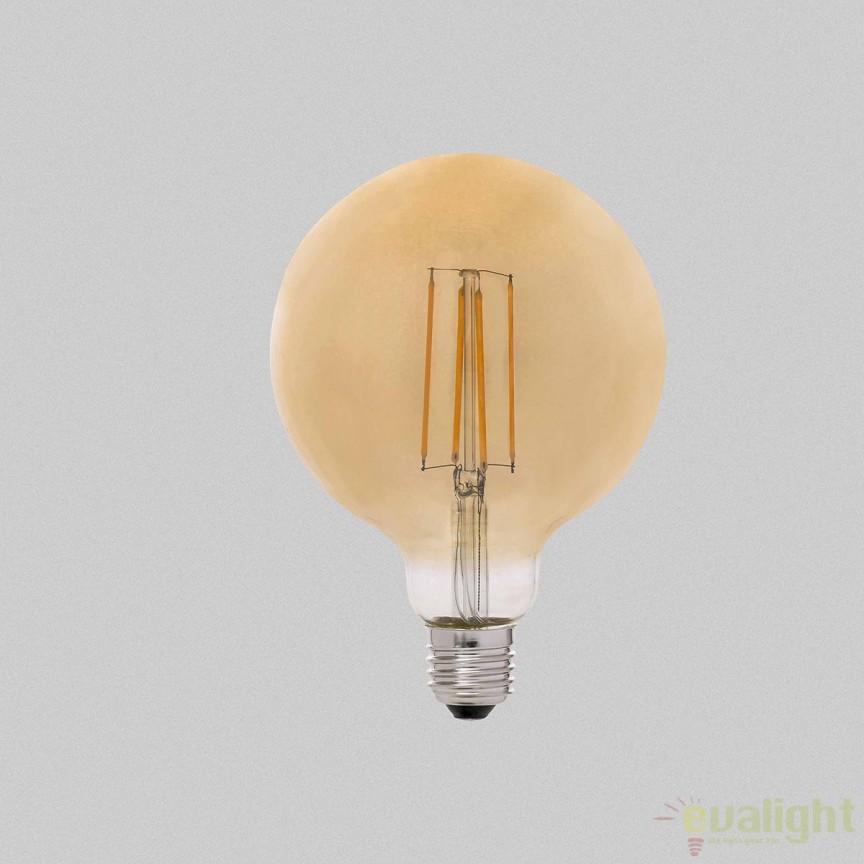 Bec LED E27 DIMABIL G95 FILAMENT 6W 2200K 17515 , BECURI ILUMINAT, Corpuri de iluminat, lustre, aplice, veioze, lampadare, plafoniere. Mobilier si decoratiuni, oglinzi, scaune, fotolii. Oferte speciale iluminat interior si exterior. Livram in toata tara.  a