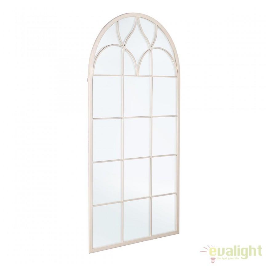 Oglinda fereastra design vintage alba AFRODITE 0242606 BZ, Corpuri de iluminat, lustre, aplice, veioze, lampadare, plafoniere. Mobilier si decoratiuni, oglinzi, scaune, fotolii. Oferte speciale iluminat interior si exterior. Livram in toata tara.