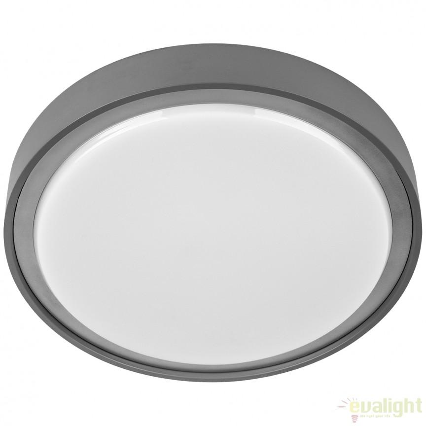 Plafoniera LED exterior IP65 OCASO 100762 SU, Plafoniere de exterior, Corpuri de iluminat, lustre, aplice, veioze, lampadare, plafoniere. Mobilier si decoratiuni, oglinzi, scaune, fotolii. Oferte speciale iluminat interior si exterior. Livram in toata tara.  a