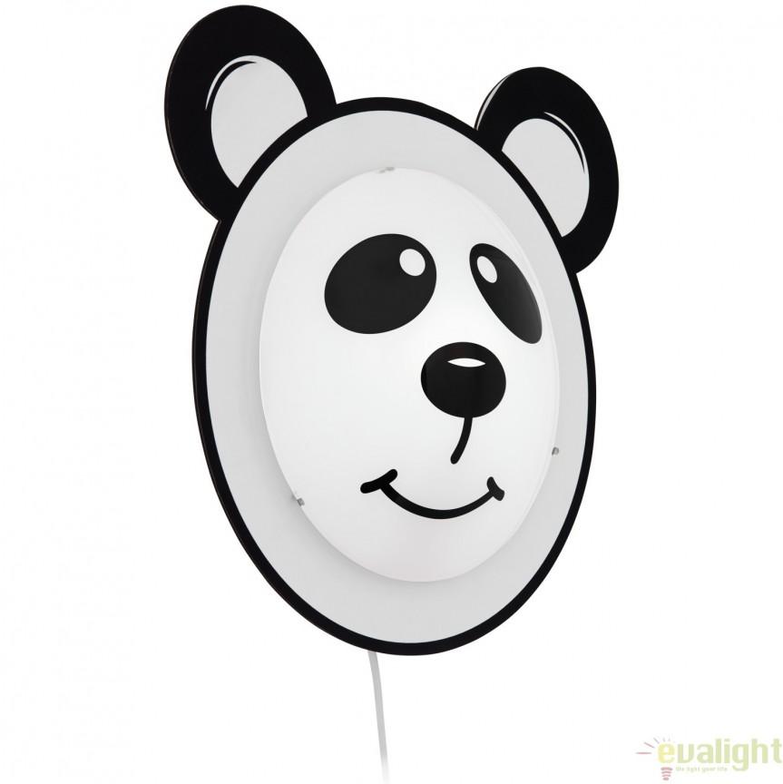 Aplica de perete, design panda, camera copii PANDINO 95746 EL, Lustre pentru camera Copii, Corpuri de iluminat, lustre, aplice, veioze, lampadare, plafoniere. Mobilier si decoratiuni, oglinzi, scaune, fotolii. Oferte speciale iluminat interior si exterior. Livram in toata tara.  a