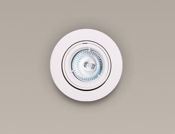 Spot alb incastrabil, diam.9,5cm, H0036 MX, Spoturi incastrate, aplicate - tavan / perete, Corpuri de iluminat, lustre, aplice a