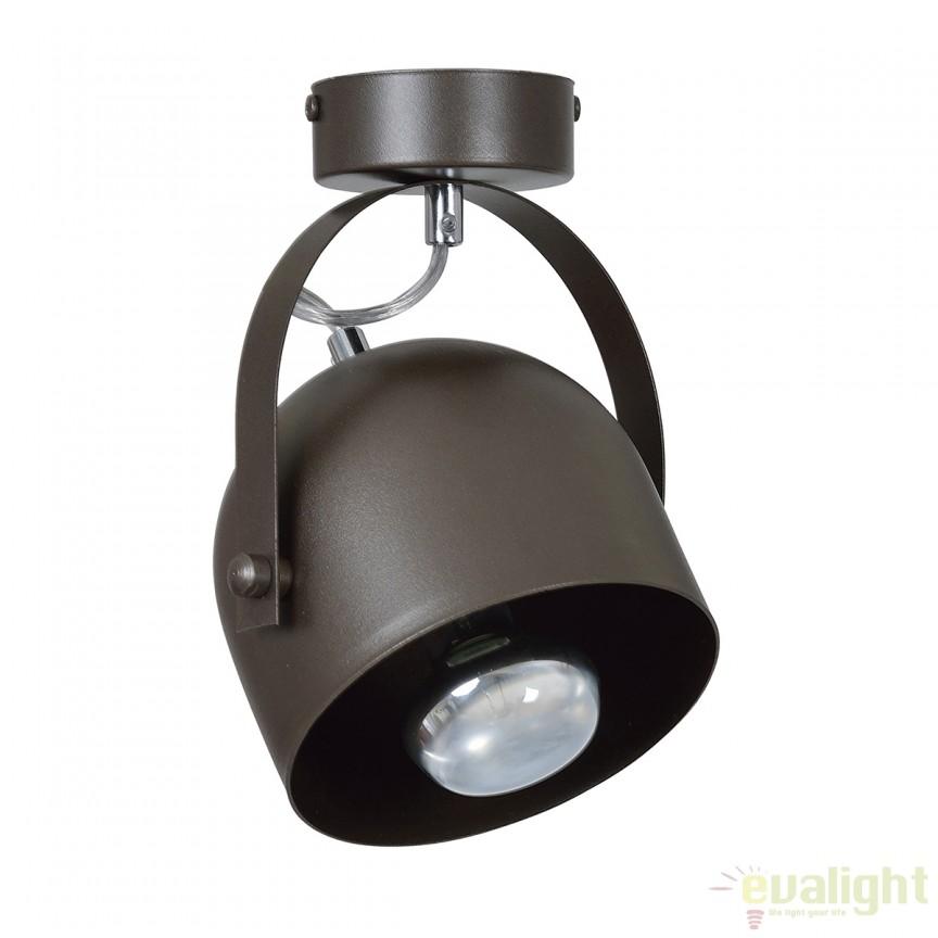 Plafoniera moderna cu Spot directionabil DOBSON wenge 771/1 EMB, Spoturi - iluminat - cu 1 spot, Corpuri de iluminat, lustre, aplice, veioze, lampadare, plafoniere. Mobilier si decoratiuni, oglinzi, scaune, fotolii. Oferte speciale iluminat interior si exterior. Livram in toata tara.  a