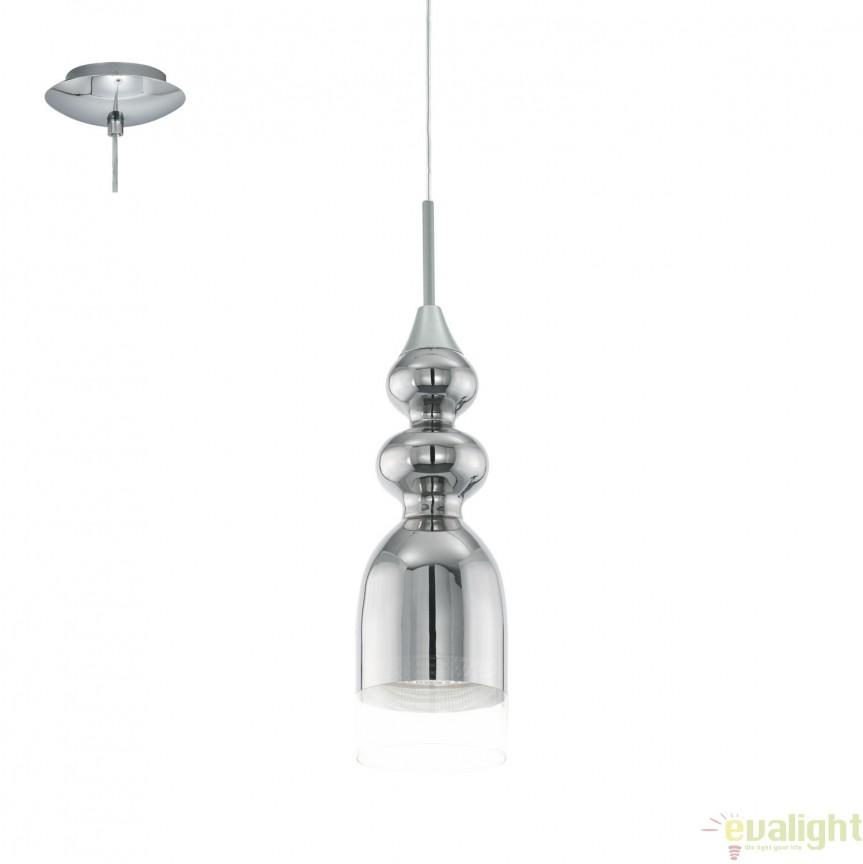 Pendul, Lustra suspendata design elegant GU10-LED, diametru 12cm, BOLANOS 95555 EL, PROMOTII,  a