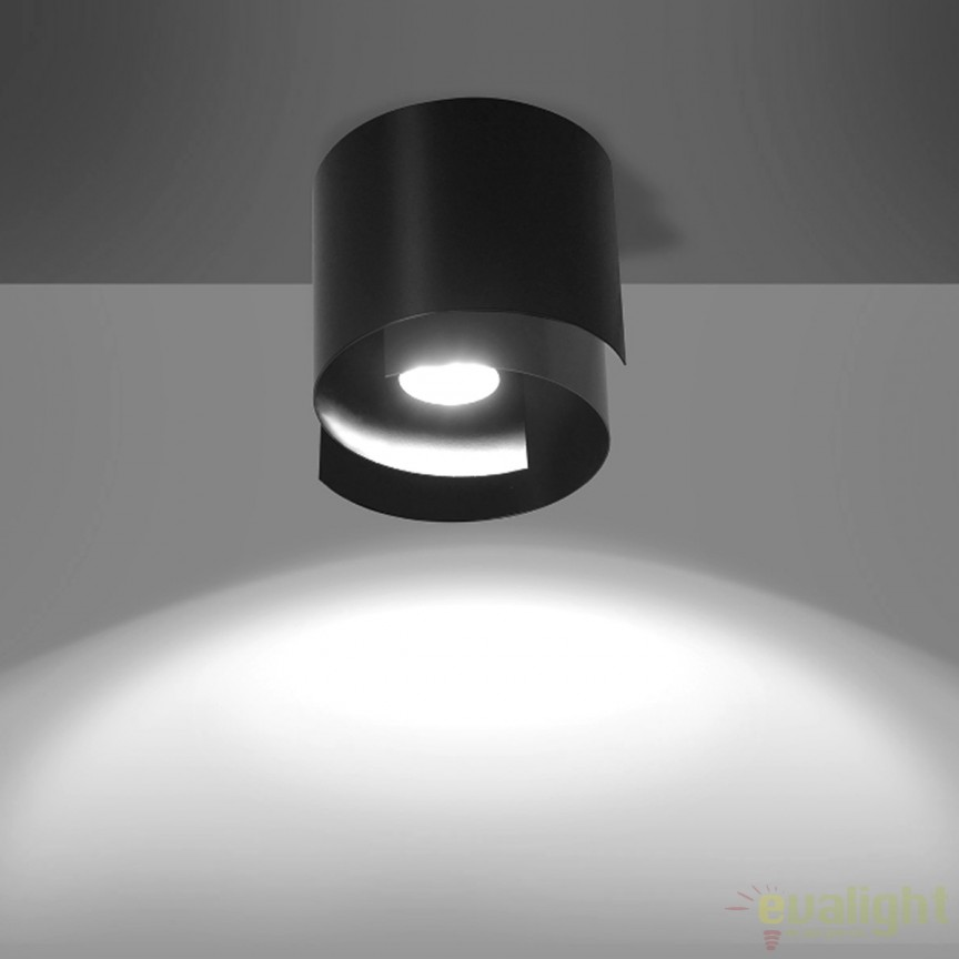 Spot aplicat STYLE I negru 926/1 EMB, Spoturi incastrate, aplicate - tavan / perete, Corpuri de iluminat, lustre, aplice, veioze, lampadare, plafoniere. Mobilier si decoratiuni, oglinzi, scaune, fotolii. Oferte speciale iluminat interior si exterior. Livram in toata tara.  a