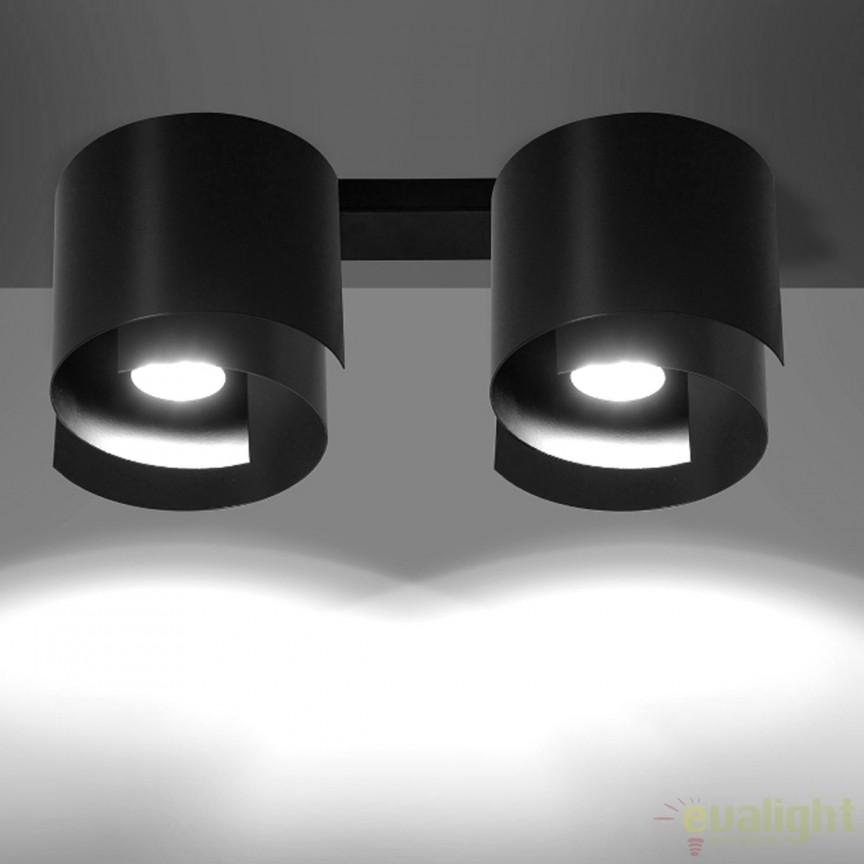Spot aplicat STYLE II negru 926/2 EMB, Spoturi incastrate, aplicate - tavan / perete, Corpuri de iluminat, lustre, aplice, veioze, lampadare, plafoniere. Mobilier si decoratiuni, oglinzi, scaune, fotolii. Oferte speciale iluminat interior si exterior. Livram in toata tara.  a