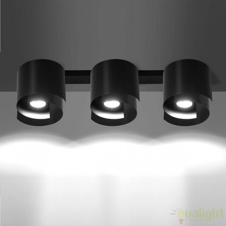 Spot aplicat STYLE III negru 926/3 EMB, Spoturi incastrate, aplicate - tavan / perete, Corpuri de iluminat, lustre, aplice, veioze, lampadare, plafoniere. Mobilier si decoratiuni, oglinzi, scaune, fotolii. Oferte speciale iluminat interior si exterior. Livram in toata tara.  a
