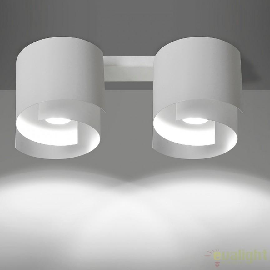Spot aplicat STYLE II alba 925/2 EMB, Spoturi incastrate, aplicate - tavan / perete, Corpuri de iluminat, lustre, aplice, veioze, lampadare, plafoniere. Mobilier si decoratiuni, oglinzi, scaune, fotolii. Oferte speciale iluminat interior si exterior. Livram in toata tara.  a