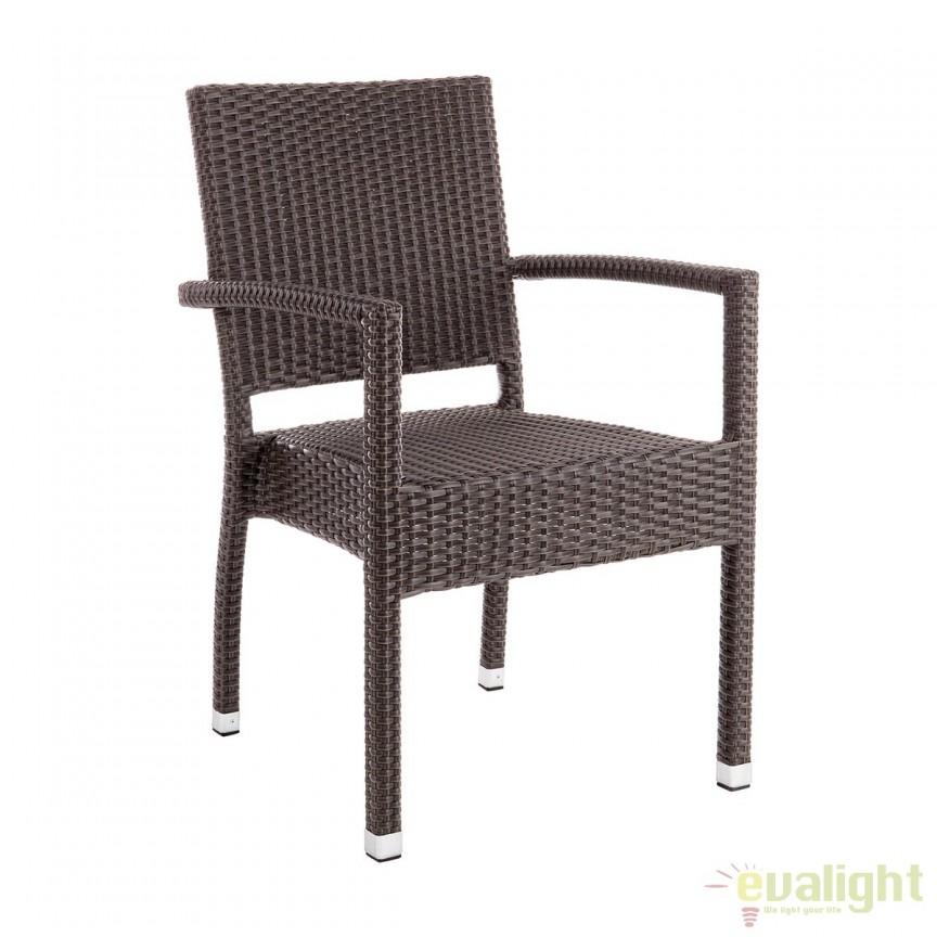 Set de 4 scaune cu brate maro ideal pentru terase ASTON 0661761 BZ, Mobilier terasa si gradina modern pentru decor exterior⭐ mobila ultra-moderna de relaxare✅ design de lux actual premium, trend 2021❗ Set-uri de mobila din ratan, lemn, poliratan, plastic, rachita, metal, fier forjat, modele vintage, rustic.❤️Promotii mobilier terasa si gradina❗ Intra si vezi modele unicat ✚ poze ✚ pret ➽ www.evalight.ro. ➽ sursa ta de inspiratie online❗ Colectii de mobilier rezistent si confortabil pentru amenajari interioare si exterioare cu design original: mese, banci, baldachine, balansoare, canapele, scaune, fotolii, masute de cafea, bar inalte, pt amenajari balcon, terase restaurant, bar, terasa, hotel, mobila showroom, intra ➽vezi oferte si reduceri cu vanzare rapida din stoc, ieftine si de calitate deosebita la cel mai bun pret. intra ➽vezi oferte si reduceri cu vanzare rapida din stoc, ieftine si de calitate deosebita la cel mai bun pret.   a