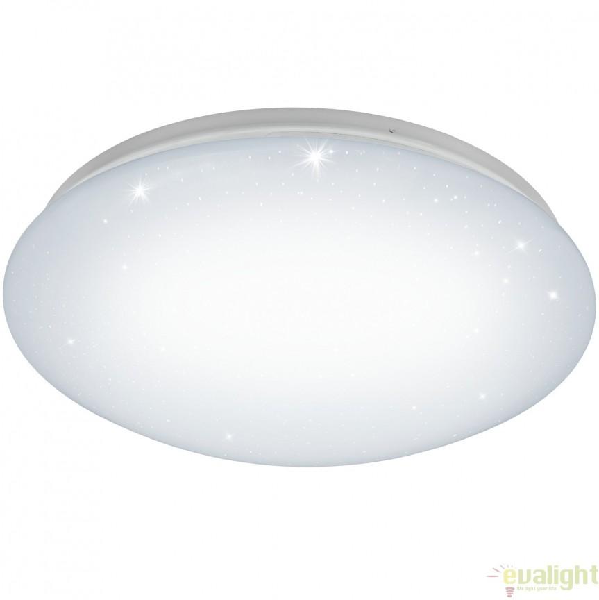 Aplica de perete, Plafoniera LED din plastic cu efect de cristal, diametru 38,5cm, GIRON-S 96028 EL, Magazin, Corpuri de iluminat, lustre, aplice, veioze, lampadare, plafoniere. Mobilier si decoratiuni, oglinzi, scaune, fotolii. Oferte speciale iluminat interior si exterior. Livram in toata tara.  a