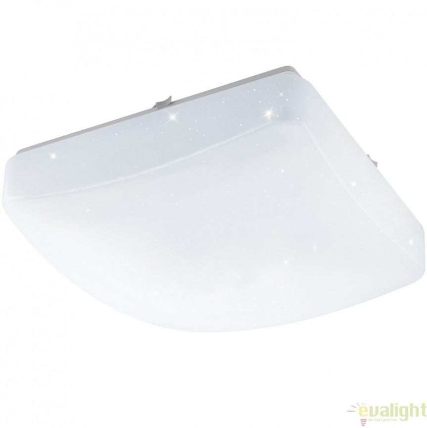 Aplica de perete, Plafoniera LED din plastic cu efect de cristal, 37,5x37,5, GIRON-S 96031 EL, Magazin, Corpuri de iluminat, lustre, aplice, veioze, lampadare, plafoniere. Mobilier si decoratiuni, oglinzi, scaune, fotolii. Oferte speciale iluminat interior si exterior. Livram in toata tara.  a