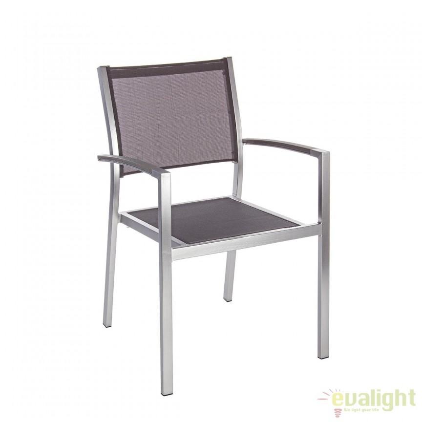 Set de 4 scaune finisaj otel satinat si material textil IRWIN 0662118 BZ, Mobilier terasa si gradina modern pentru decor exterior⭐ mobila ultra-moderna de relaxare✅ design de lux actual premium, trend 2021❗ Set-uri de mobila din ratan, lemn, poliratan, plastic, rachita, metal, fier forjat, modele vintage, rustic.❤️Promotii mobilier terasa si gradina❗ Intra si vezi modele unicat ✚ poze ✚ pret ➽ www.evalight.ro. ➽ sursa ta de inspiratie online❗ Colectii de mobilier rezistent si confortabil pentru amenajari interioare si exterioare cu design original: mese, banci, baldachine, balansoare, canapele, scaune, fotolii, masute de cafea, bar inalte, pt amenajari balcon, terase restaurant, bar, terasa, hotel, mobila showroom, intra ➽vezi oferte si reduceri cu vanzare rapida din stoc, ieftine si de calitate deosebita la cel mai bun pret. intra ➽vezi oferte si reduceri cu vanzare rapida din stoc, ieftine si de calitate deosebita la cel mai bun pret.   a
