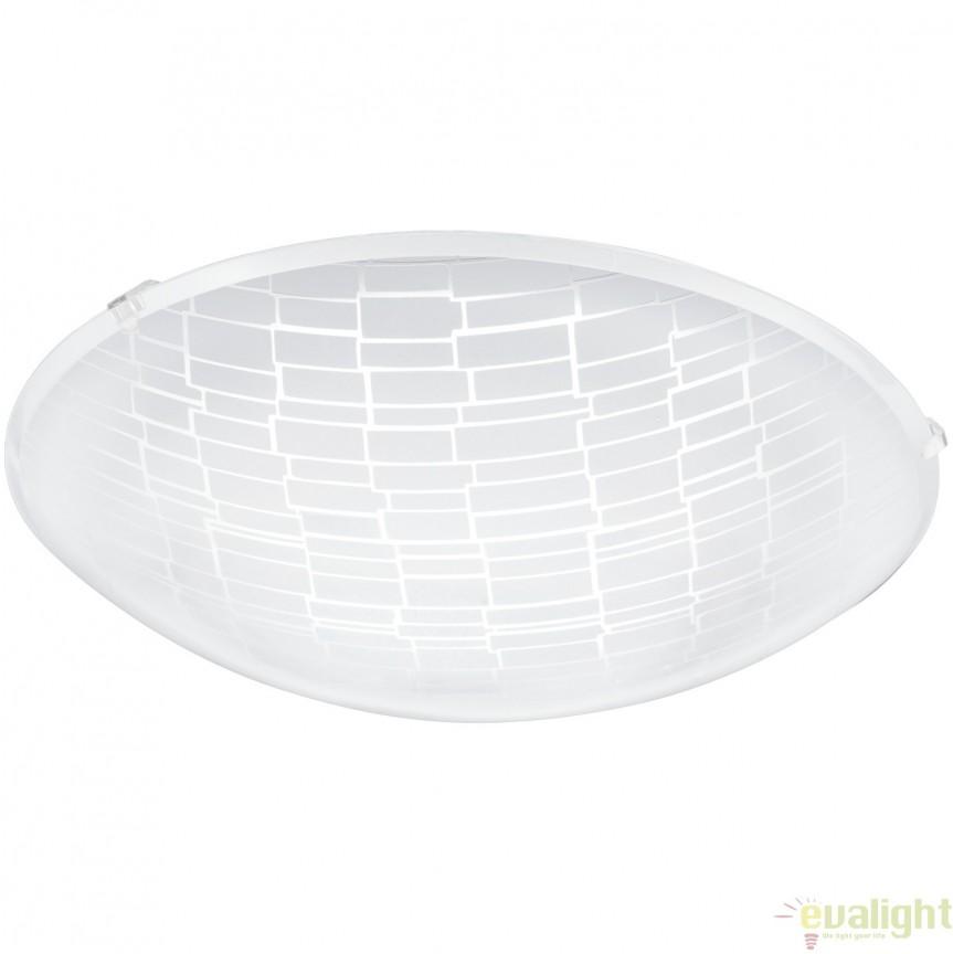 Aplica de perete, Plafoniera LED, diametru 31,5cm, MALVA 1 96085 EL, Corpuri de iluminat LED pentru interior⭐ moderne: Lustre LED, Aplice LED, Plafoniere LED, Candelabre LED, Spoturi LED, Veioze LED, Lampadare LED.✅DeSiGn decorativ 2021!❤️Promotii lampi LED❗ Magazin online ➽ www.evalight.ro. Alege oferte la corpuri de iluminat cu LED, ieftine de calitate deosebita la cel mai bun pret. a