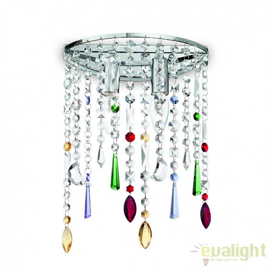 Aplica de perete cu cristal Venezian RAIN COLOR AP2 105185, LUSTRE CRISTAL, Corpuri de iluminat, lustre, aplice, veioze, lampadare, plafoniere. Mobilier si decoratiuni, oglinzi, scaune, fotolii. Oferte speciale iluminat interior si exterior. Livram in toata tara.  a
