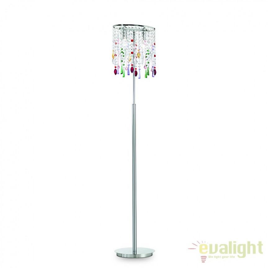 Lampadar elegant cu cristal Venezian RAIN COLOR PT2 105246, LUSTRE CRISTAL, Corpuri de iluminat, lustre, aplice, veioze, lampadare, plafoniere. Mobilier si decoratiuni, oglinzi, scaune, fotolii. Oferte speciale iluminat interior si exterior. Livram in toata tara.  a