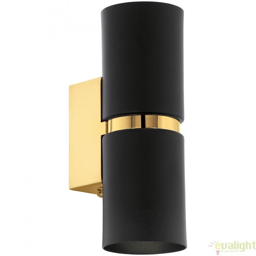 Aplica de perete GU10-LED, lumina ambientala up&down negru/auriu PASSA 95364 EL, Corpuri de iluminat LED pentru interior⭐ moderne: Lustre LED, Aplice LED, Plafoniere LED, Candelabre LED, Spoturi LED, Veioze LED, Lampadare LED.✅DeSiGn decorativ 2021!❤️Promotii lampi LED❗ Magazin online ➽ www.evalight.ro. Alege oferte la corpuri de iluminat cu LED, ieftine de calitate deosebita la cel mai bun pret. a