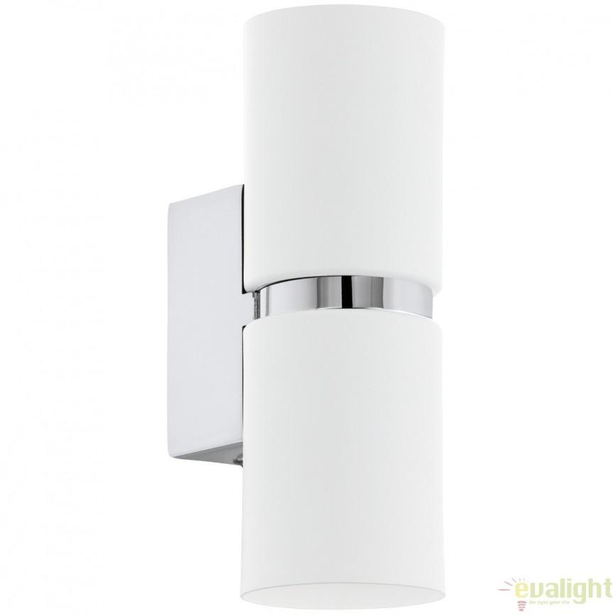 Aplica de perete GU10-LED, lumina ambientala up&down crom/alb PASSA 95368 EL, Corpuri de iluminat LED pentru interior⭐ moderne: Lustre LED, Aplice LED, Plafoniere LED, Candelabre LED, Spoturi LED, Veioze LED, Lampadare LED.✅DeSiGn decorativ 2021!❤️Promotii lampi LED❗ Magazin online ➽ www.evalight.ro. Alege oferte la corpuri de iluminat cu LED, ieftine de calitate deosebita la cel mai bun pret. a