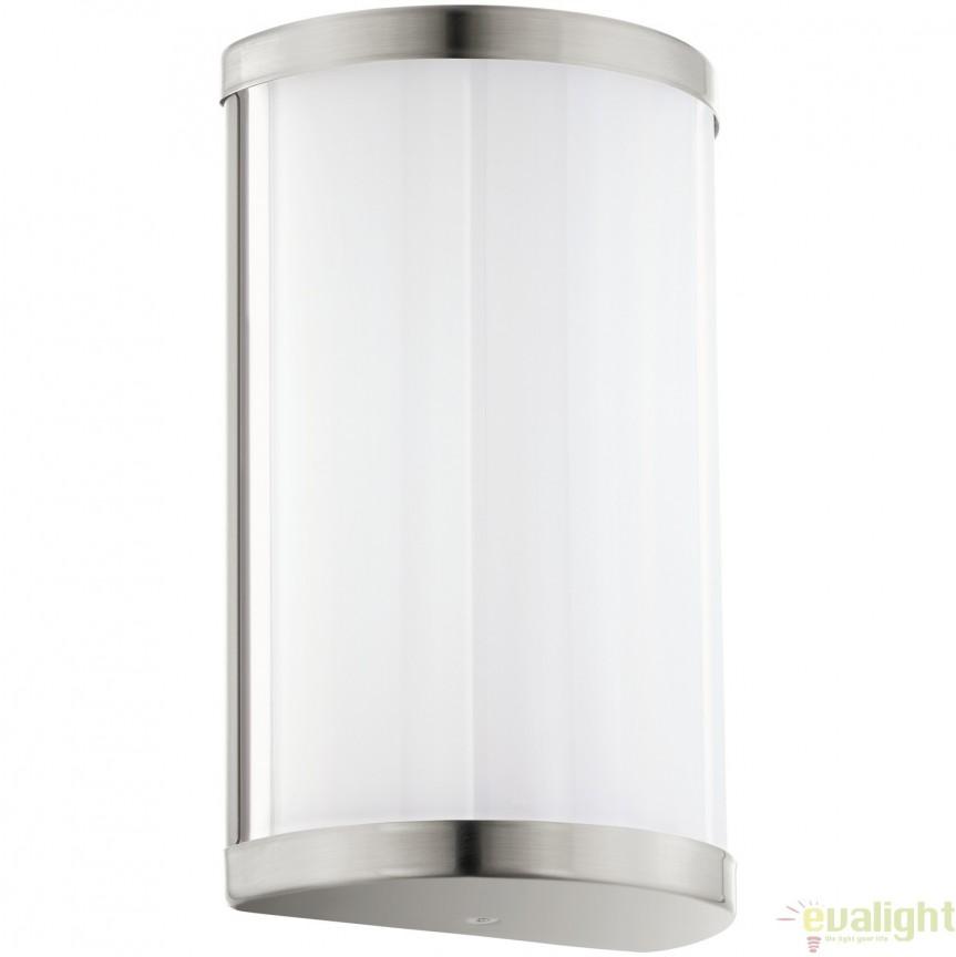 Aplica de perete LED cu metal nickel si plastic alb 11x18, CUPELLA 95774 EL, Corpuri de iluminat LED pentru interior⭐ moderne: Lustre LED, Aplice LED, Plafoniere LED, Candelabre LED, Spoturi LED, Veioze LED, Lampadare LED.✅DeSiGn decorativ 2021!❤️Promotii lampi LED❗ Magazin online ➽ www.evalight.ro. Alege oferte la corpuri de iluminat cu LED, ieftine de calitate deosebita la cel mai bun pret. a