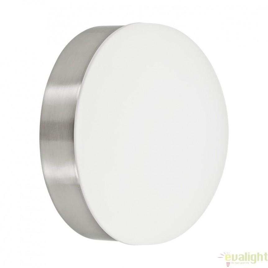 Aplica de perete LED cu metal nickel si sticla alba, diametru 13cm, CUPELLA 96002 EL, Corpuri de iluminat LED pentru interior⭐ moderne: Lustre LED, Aplice LED, Plafoniere LED, Candelabre LED, Spoturi LED, Veioze LED, Lampadare LED.✅DeSiGn decorativ 2021!❤️Promotii lampi LED❗ Magazin online ➽ www.evalight.ro. Alege oferte la corpuri de iluminat cu LED, ieftine de calitate deosebita la cel mai bun pret. a