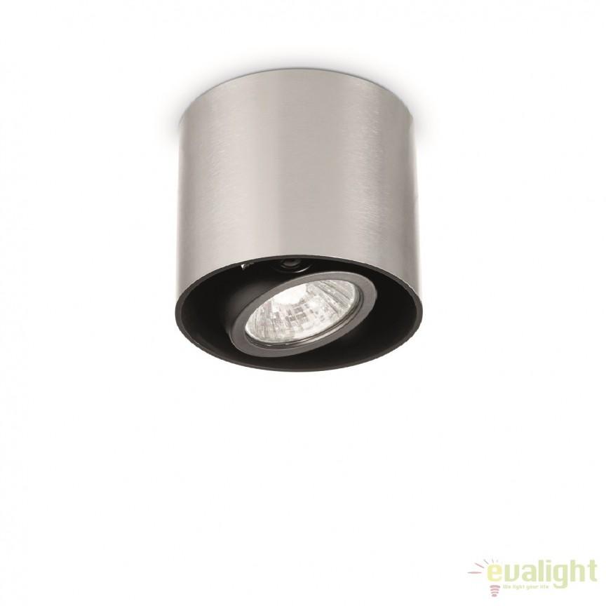 Plafoniera, Spot aplicat diametru 15cm, MOOD PL1 BIG ROUND ALLUMINIO 140896, Spoturi incastrate, aplicate - tavan / perete, Corpuri de iluminat, lustre, aplice, veioze, lampadare, plafoniere. Mobilier si decoratiuni, oglinzi, scaune, fotolii. Oferte speciale iluminat interior si exterior. Livram in toata tara.  a