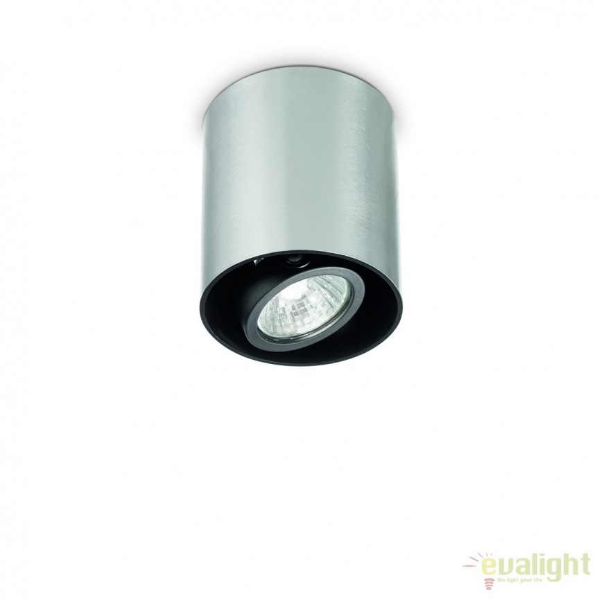 Plafoniera, Spot aplicat diametru 9cm, MOOD PL1 SMALL ROUND ALLUMINIO 140865, Spoturi incastrate, aplicate - tavan / perete, Corpuri de iluminat, lustre, aplice, veioze, lampadare, plafoniere. Mobilier si decoratiuni, oglinzi, scaune, fotolii. Oferte speciale iluminat interior si exterior. Livram in toata tara.  a