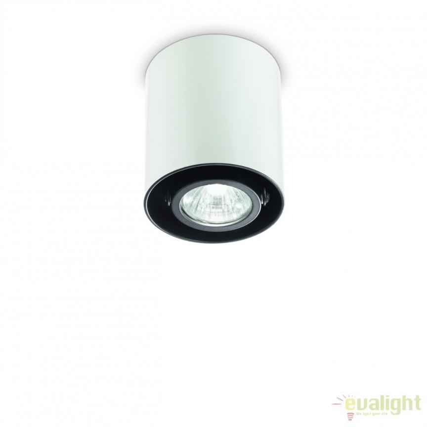 Plafoniera, Spot aplicat diametru 9cm, MOOD PL1 SMALL ROUND BIANCO 140841, Spoturi incastrate, aplicate - tavan / perete, Corpuri de iluminat, lustre, aplice, veioze, lampadare, plafoniere. Mobilier si decoratiuni, oglinzi, scaune, fotolii. Oferte speciale iluminat interior si exterior. Livram in toata tara.  a