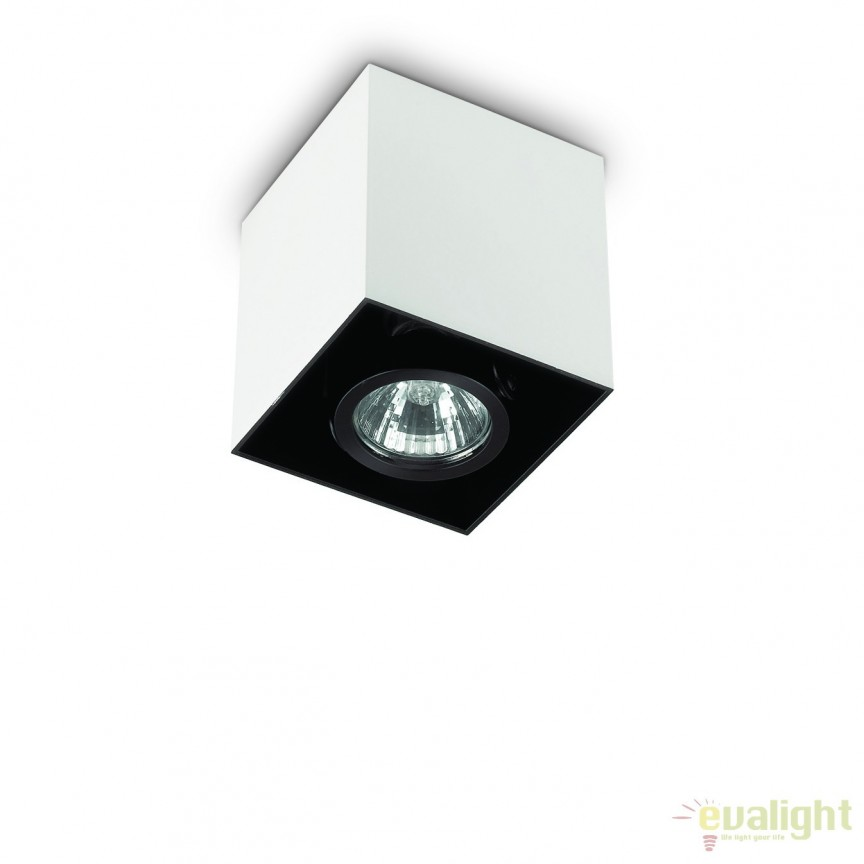 Plafoniera, Spot aplicat dim. 9x9cm, MOOD PL1 SMALL SQUARE BIANCO 140902, Spoturi incastrate, aplicate - tavan / perete, Corpuri de iluminat, lustre, aplice, veioze, lampadare, plafoniere. Mobilier si decoratiuni, oglinzi, scaune, fotolii. Oferte speciale iluminat interior si exterior. Livram in toata tara.  a