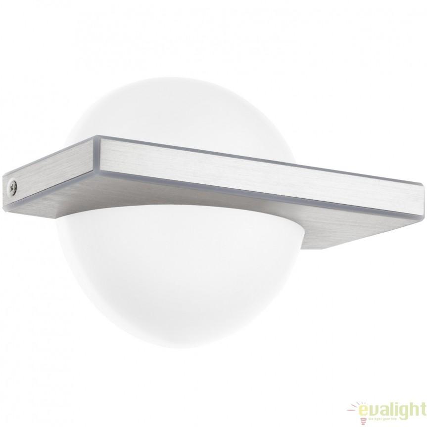 Aplica de perete moderna, aluminiu/alb, LED BOLDO 95771 EL, Corpuri de iluminat LED pentru interior⭐ moderne: Lustre LED, Aplice LED, Plafoniere LED, Candelabre LED, Spoturi LED, Veioze LED, Lampadare LED.✅DeSiGn decorativ 2021!❤️Promotii lampi LED❗ Magazin online ➽ www.evalight.ro. Alege oferte la corpuri de iluminat cu LED, ieftine de calitate deosebita la cel mai bun pret. a