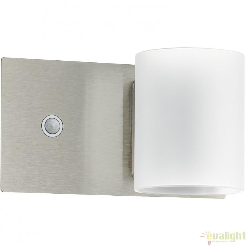 Aplica de perete cu intrerupator touch dimmer, nickel/alb, LED PACAO 95784 EL, Aplice de perete LED, Corpuri de iluminat, lustre, aplice, veioze, lampadare, plafoniere. Mobilier si decoratiuni, oglinzi, scaune, fotolii. Oferte speciale iluminat interior si exterior. Livram in toata tara.  a