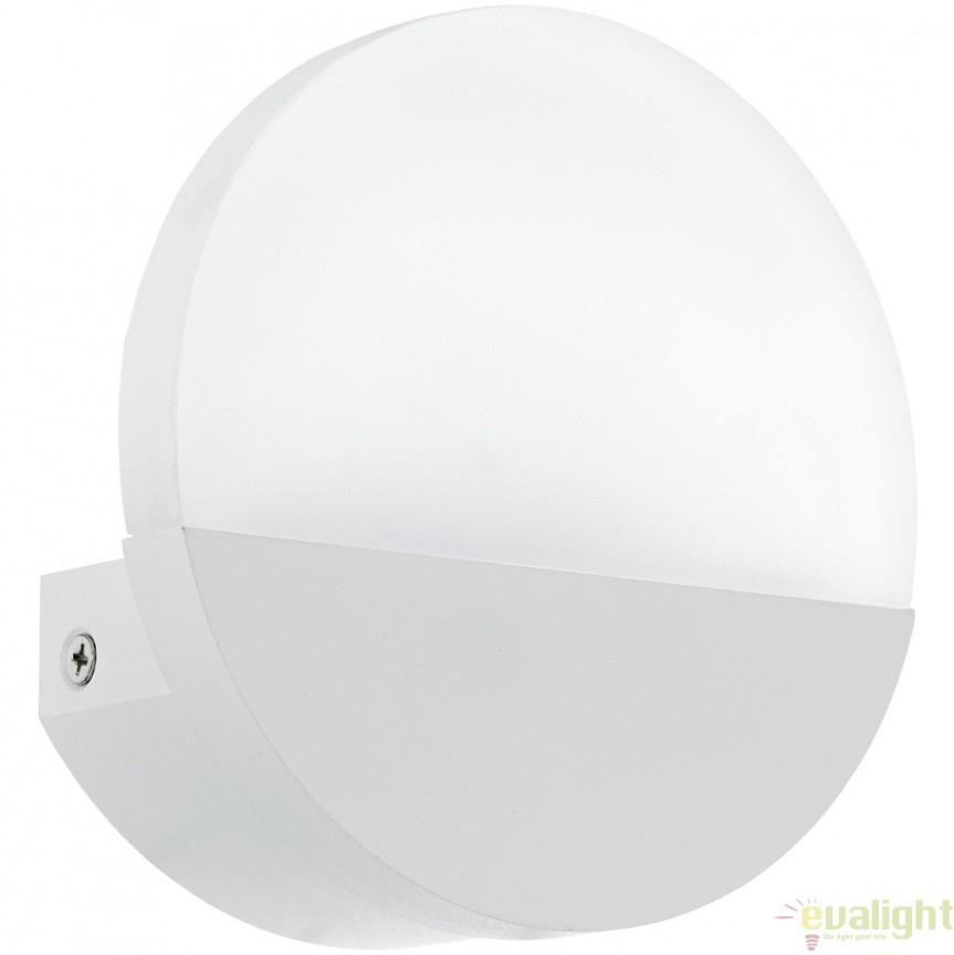 Aplica de perete moderna alba, diametru 13cm, LED METRASS 96039 EL, Corpuri de iluminat LED pentru interior⭐ moderne: Lustre LED, Aplice LED, Plafoniere LED, Candelabre LED, Spoturi LED, Veioze LED, Lampadare LED.✅DeSiGn decorativ 2021!❤️Promotii lampi LED❗ Magazin online ➽ www.evalight.ro. Alege oferte la corpuri de iluminat cu LED, ieftine de calitate deosebita la cel mai bun pret. a