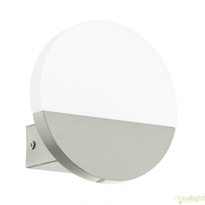 Aplica de perete moderna nickel/alb, diametru 13cm, LED METRASS 96041 EL, Corpuri de iluminat LED pentru interior⭐ moderne: Lustre LED, Aplice LED, Plafoniere LED, Candelabre LED, Spoturi LED, Veioze LED, Lampadare LED.✅DeSiGn decorativ 2021!❤️Promotii lampi LED❗ Magazin online ➽ www.evalight.ro. Alege oferte la corpuri de iluminat cu LED, ieftine de calitate deosebita la cel mai bun pret. a