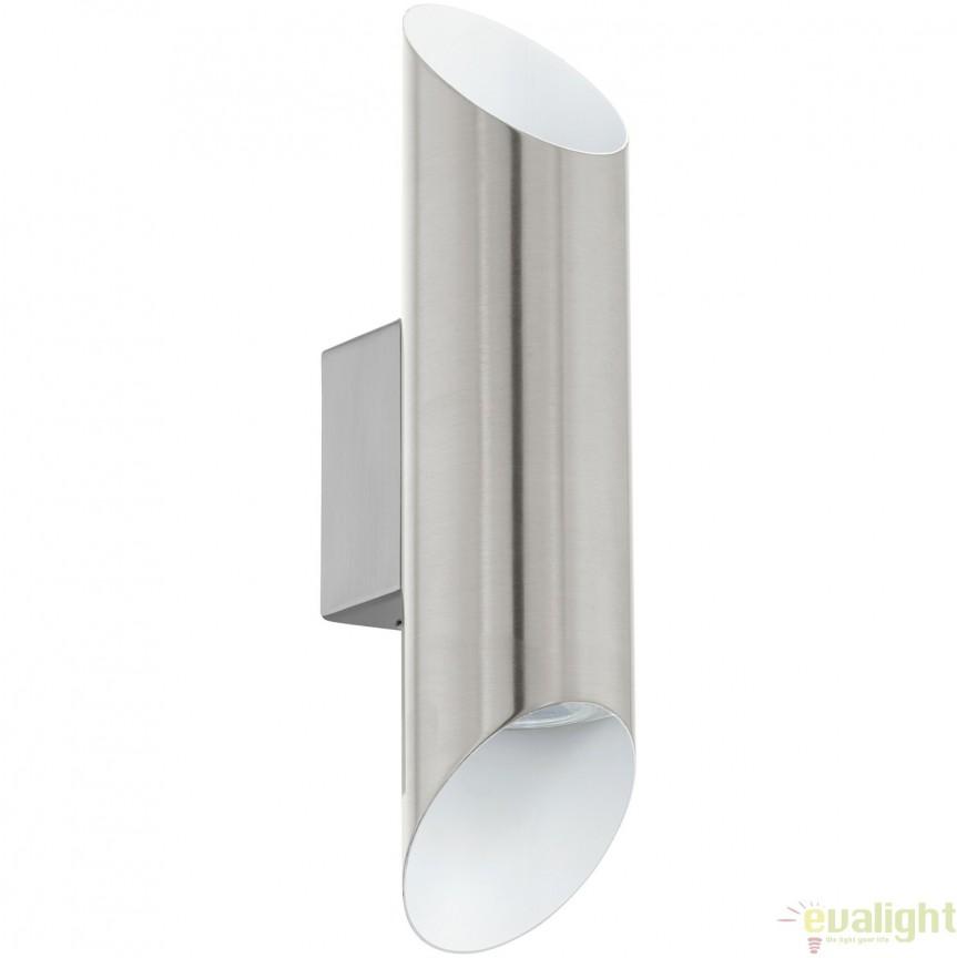 Aplica de perete GU10-LED, lumina ambientala up&down nickel/alb VIEGAS 95422 EL, Corpuri de iluminat LED pentru interior⭐ moderne: Lustre LED, Aplice LED, Plafoniere LED, Candelabre LED, Spoturi LED, Veioze LED, Lampadare LED.✅DeSiGn decorativ 2021!❤️Promotii lampi LED❗ Magazin online ➽ www.evalight.ro. Alege oferte la corpuri de iluminat cu LED, ieftine de calitate deosebita la cel mai bun pret. a