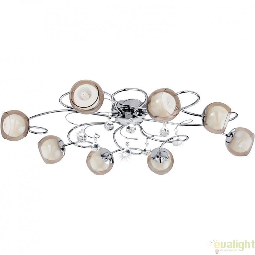 Lustra aplicata moderna G9-LED cu 8 brate, diametru 85cm, ASCOLESE 1 95158 EL, Lustre moderne aplicate, Corpuri de iluminat, lustre, aplice, veioze, lampadare, plafoniere. Mobilier si decoratiuni, oglinzi, scaune, fotolii. Oferte speciale iluminat interior si exterior. Livram in toata tara.  a