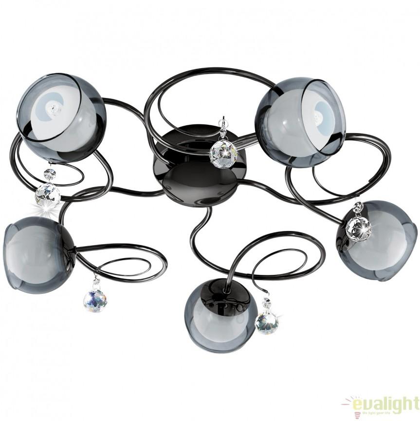 Lustra aplicata moderna G9-LED cu 5 brate, diametru 51cm, ASCOLESE 1 95159 EL, Lustre moderne aplicate, Corpuri de iluminat, lustre, aplice, veioze, lampadare, plafoniere. Mobilier si decoratiuni, oglinzi, scaune, fotolii. Oferte speciale iluminat interior si exterior. Livram in toata tara.  a