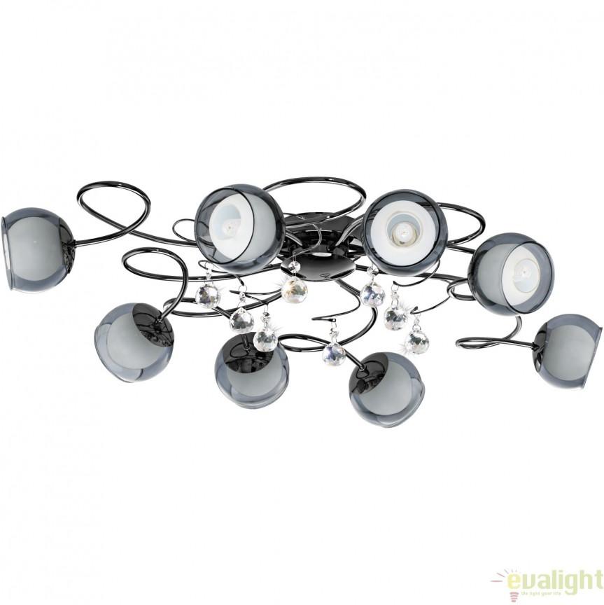 Lustra aplicata moderna G9-LED cu 8 brate, diametru 85cm, ASCOLESE 1 95161 EL, Lustre moderne aplicate, Corpuri de iluminat, lustre, aplice, veioze, lampadare, plafoniere. Mobilier si decoratiuni, oglinzi, scaune, fotolii. Oferte speciale iluminat interior si exterior. Livram in toata tara.  a