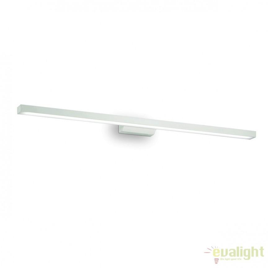Aplica liniara LED cu protectie IP44, pentru oglinda baie EDGAR AP49 BIANCO 136592, Aplice pentru baie, oglinda, tablou, Corpuri de iluminat, lustre, aplice, veioze, lampadare, plafoniere. Mobilier si decoratiuni, oglinzi, scaune, fotolii. Oferte speciale iluminat interior si exterior. Livram in toata tara.  a