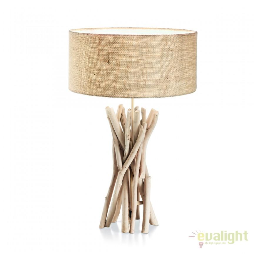 Veioza / Lampa de masa design rustic DRIFTWOOD TL1 129570, Veioze, Corpuri de iluminat, lustre, aplice, veioze, lampadare, plafoniere. Mobilier si decoratiuni, oglinzi, scaune, fotolii. Oferte speciale iluminat interior si exterior. Livram in toata tara.  a