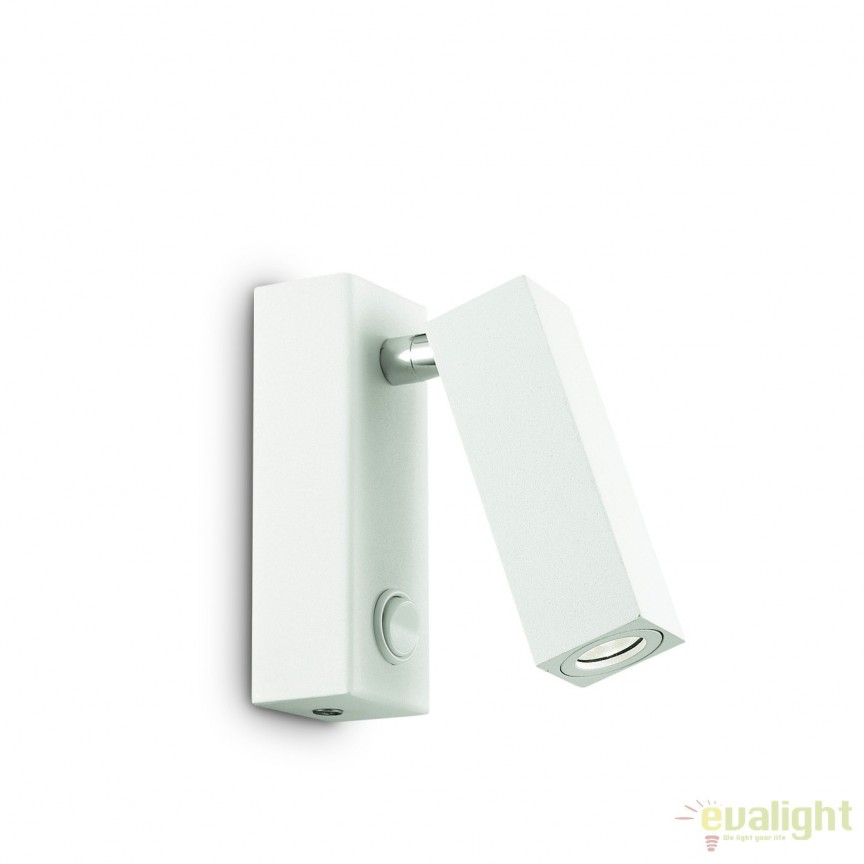 Aplica moderna, directionabila, LED PAGE AP SQUARE BIANCO 142258, Corpuri de iluminat LED pentru interior⭐ moderne: Lustre LED, Aplice LED, Plafoniere LED, Candelabre LED, Spoturi LED, Veioze LED, Lampadare LED.✅DeSiGn decorativ 2021!❤️Promotii lampi LED❗ Magazin online ➽ www.evalight.ro. Alege oferte la corpuri de iluminat cu LED, ieftine de calitate deosebita la cel mai bun pret. a