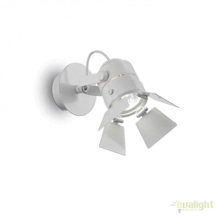 Aplica, spot directionabil cu flapsuri CIAK AP1 BIANCO 095677, Spoturi - iluminat - cu 1 spot, Corpuri de iluminat, lustre, aplice, veioze, lampadare, plafoniere. Mobilier si decoratiuni, oglinzi, scaune, fotolii. Oferte speciale iluminat interior si exterior. Livram in toata tara.  a