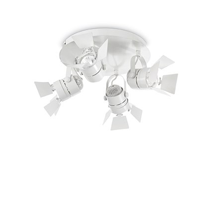 Aplica cu 4 spoturi directionabile cu flapsuri CIAK AP4 BIANCO 122281, Spoturi - iluminat - cu 4 spoturi, Corpuri de iluminat, lustre, aplice, veioze, lampadare, plafoniere. Mobilier si decoratiuni, oglinzi, scaune, fotolii. Oferte speciale iluminat interior si exterior. Livram in toata tara.  a