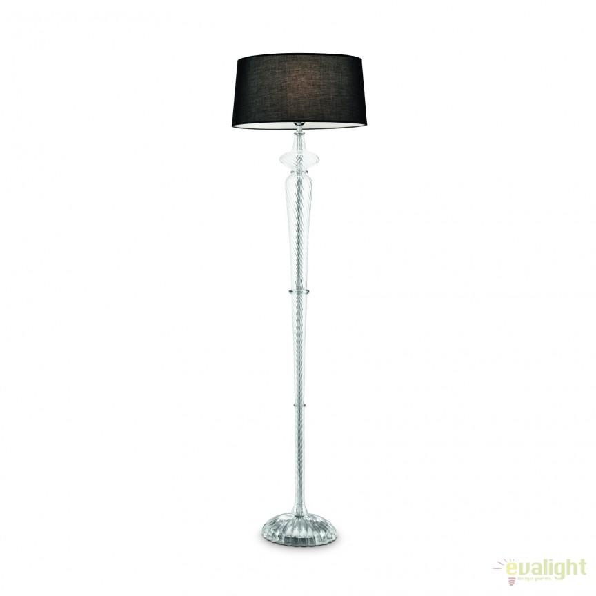 Lampadar elegant / Lampa de podea clasica FORCOLA PT1 neagra 142623, Lampadare clasice, Corpuri de iluminat, lustre, aplice, veioze, lampadare, plafoniere. Mobilier si decoratiuni, oglinzi, scaune, fotolii. Oferte speciale iluminat interior si exterior. Livram in toata tara.  a