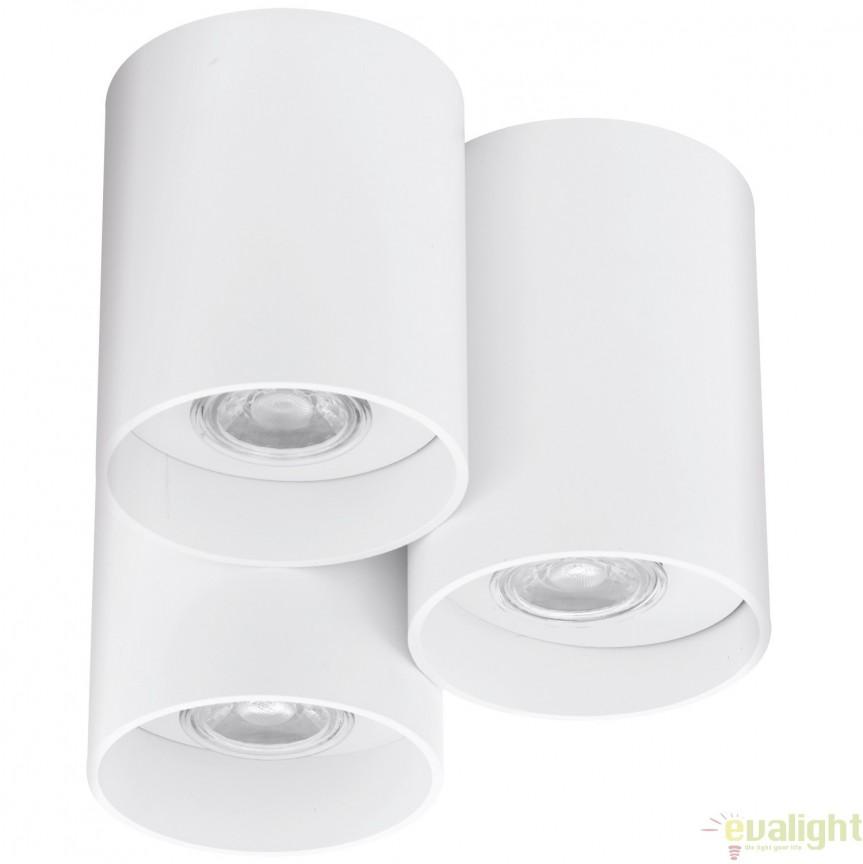 Plafoniera cu 3 becuri GU10-LED, finisaj alb, diametru 22cm, LASANA 94633 EL, Magazin, Corpuri de iluminat, lustre, aplice, veioze, lampadare, plafoniere. Mobilier si decoratiuni, oglinzi, scaune, fotolii. Oferte speciale iluminat interior si exterior. Livram in toata tara.  a