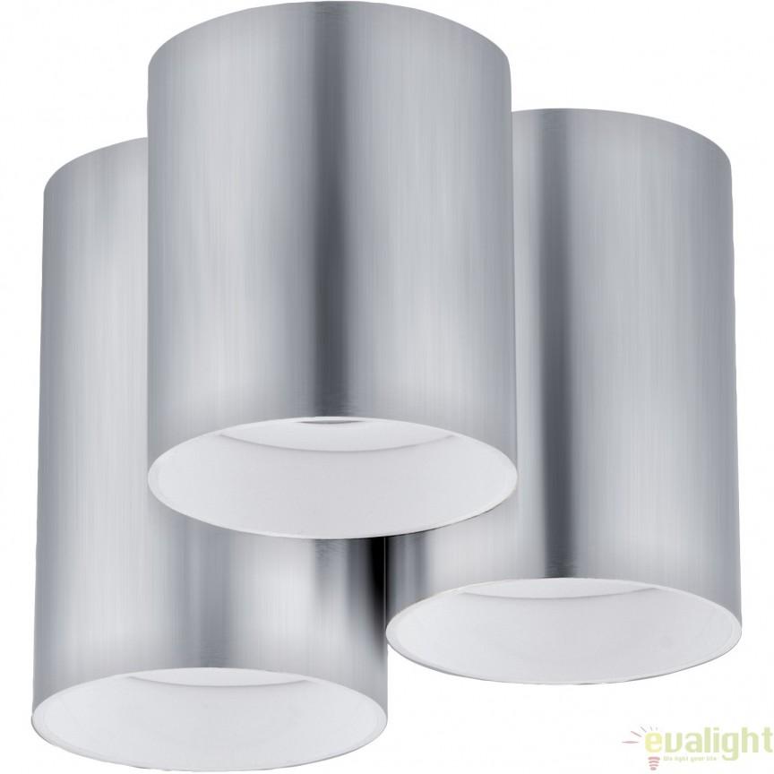 Plafoniera cu 3 becuri GU10-LED, finisaj aluminiu, diametru 22cm, LASANA 94634 EL, Magazin, Corpuri de iluminat, lustre, aplice, veioze, lampadare, plafoniere. Mobilier si decoratiuni, oglinzi, scaune, fotolii. Oferte speciale iluminat interior si exterior. Livram in toata tara.  a