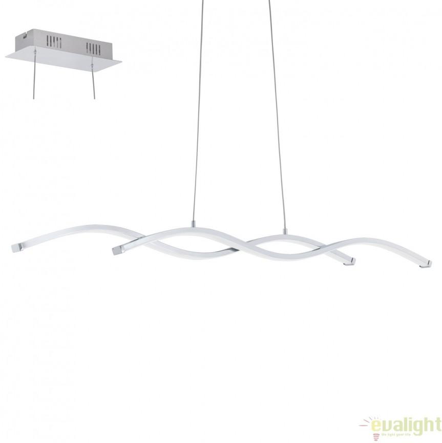 Lustra suspendata, Pendul cu iluminat LED, L-87, LASANA 2 96103 EL, Corpuri de iluminat LED pentru interior⭐ moderne: Lustre LED, Aplice LED, Plafoniere LED, Candelabre LED, Spoturi LED, Veioze LED, Lampadare LED.✅DeSiGn decorativ 2021!❤️Promotii lampi LED❗ Magazin online ➽ www.evalight.ro. Alege oferte la corpuri de iluminat cu LED, ieftine de calitate deosebita la cel mai bun pret. a