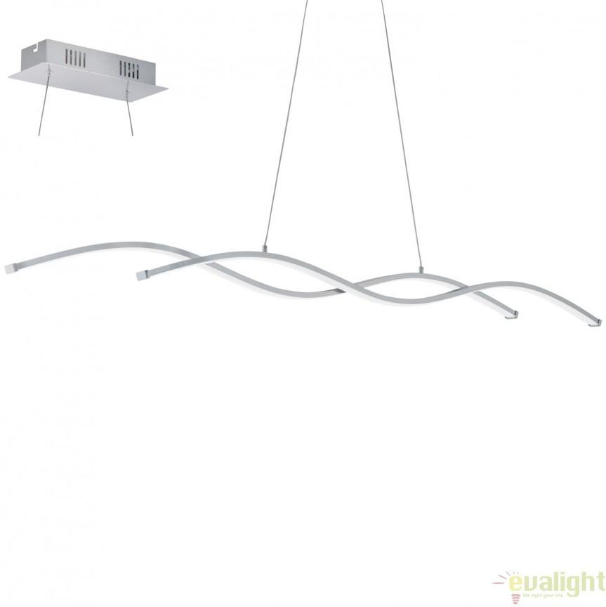 Lustra suspendata, Pendul cu iluminat LED, L-120, LASANA 2 96104 EL, Corpuri de iluminat LED pentru interior⭐ moderne: Lustre LED, Aplice LED, Plafoniere LED, Candelabre LED, Spoturi LED, Veioze LED, Lampadare LED.✅DeSiGn decorativ 2021!❤️Promotii lampi LED❗ Magazin online ➽ www.evalight.ro. Alege oferte la corpuri de iluminat cu LED, ieftine de calitate deosebita la cel mai bun pret. a